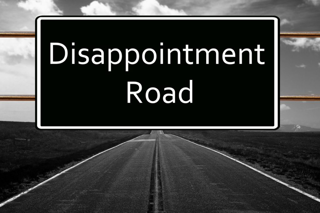 disappointment roadの看板